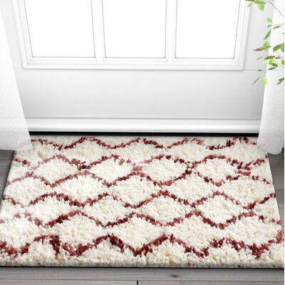Olszewski Maroon/Beige Area Rug Rug Size: Rectangle 710 x 910