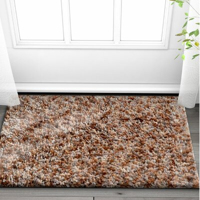 Olszewski Brown Area Rug Rug Size: Rectangle 53 x 73