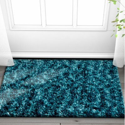 Olszewski Blue/Green Area Rug Rug Size: Rectangle 53 x 73