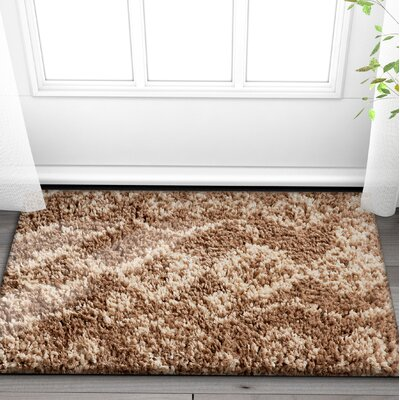 Olszewski Beige/Brown Area Rug Rug Size: Rectangle 710 x 910