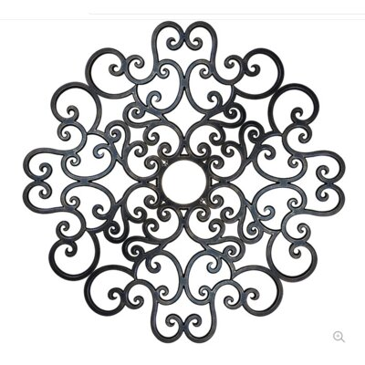 Anaelle Ceiling Medallions Finish: Antique Bronze, Size: 60 H x 60 W x 0.75 D