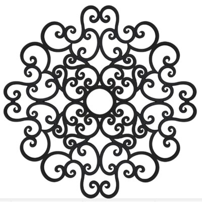 Anaelle Ceiling Medallions Finish: Black Iron, Size: 60 H x 60 W x 0.75 D