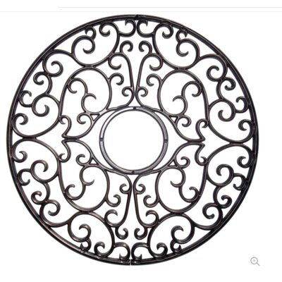 "Nedal Ceiling Medallions Size: 24"" H x 24"" W x 0.75"" D, Finish: Antique Bronze"