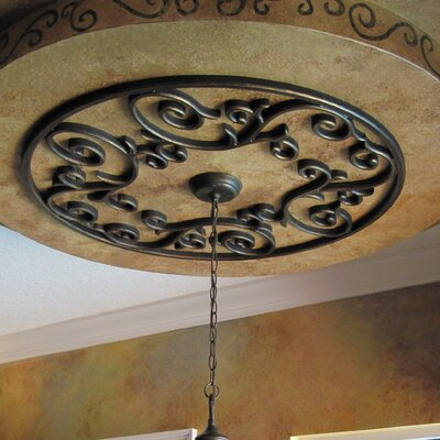 Eva Ceiling Medallion Finish: Antique Bronze, Size: 32 H x 32 W x 0.75 D