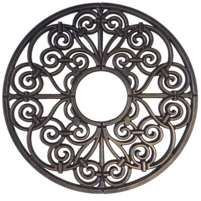 "Amany Ceiling Medallion Size: 24"" H x 24"" W x 0.75"" D, Finish: Antique Bronze"