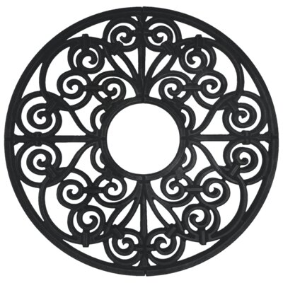 Amany Ceiling Medallion Size: 60 H x 60 W x 0.75 D , Finish: Black Iron