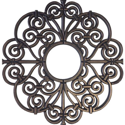 Amany Frameless Ceiling Medallion Size: 32 H x 32 W x 0.75 D , Finish: Antique Bronze