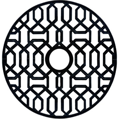 Firas Ceiling Medallion Size: 48 H x 48 W x 0.75 D , Finish: Black Iron