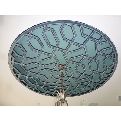 Firas Ceiling Medallion Size: 48 H x 48 W x 0.75 D , Finish: Antique Pewter