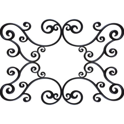 Gabriele Ceiling Medallion Size: 48 H x 60 W x 0.75 D , Finish: Black Iron
