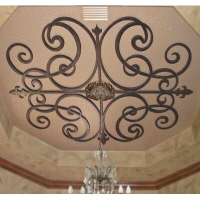 Paige Ceiling Medallion Size: 32 H x 32 W x 0.75 D, Finish: Antique Bronze
