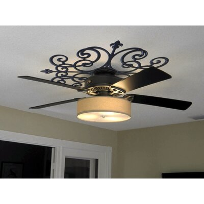 Paige Ceiling Medallion Size: 48 H x 48 W x 0.75 D , Finish: Black Iron