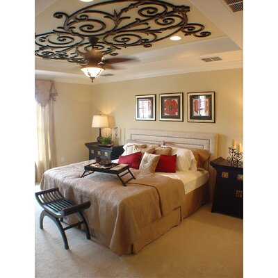 Nikos Ceiling Medallion Size: 36 H x 72 W x 0.75 D , Finish: Black Iron