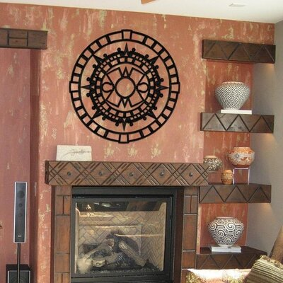 Aztec Ceiling Medallion Size: 32 H x 32 W x 0.75 D , Finish: Black Iron