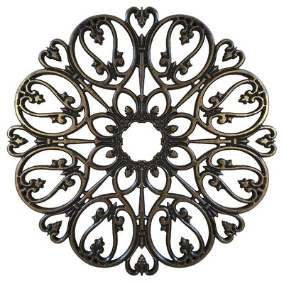 Baptite Ceiling Medallions Size: 48 H x 48 W x 0.75 D, Finish: Antique Bronze