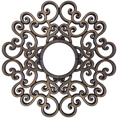 Anaelle Ceiling Medallions Size: 32 H x 32 W x 0.75 D, Finish: Antique Bronze