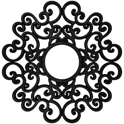 Anaelle Ceiling Medallions Size: 24 H x 24 W x 0.75 D, Finish: Black Iron