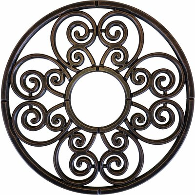 Stella Ceiling Medallion Size: 32 H x 32 W x 0.75 D , Finish: Antique Bronze