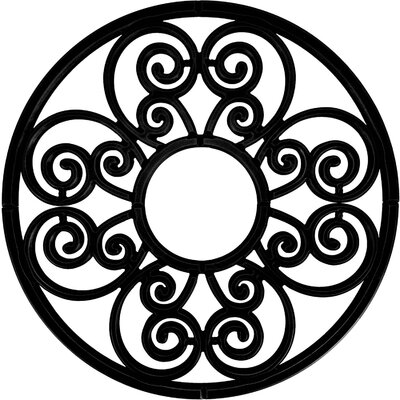 Stella Ceiling Medallion Size: 60 H x 60 W x 0.75 D , Finish: Black Iron