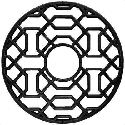 Firas Ceiling Medallion Size: 32 H x 32 W x 0.75 D , Finish: Black Iron
