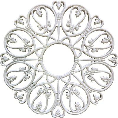 Baptite Ceiling Medallions Size: 24 H x 24 W x 0.75 D, Finish: Plaster White
