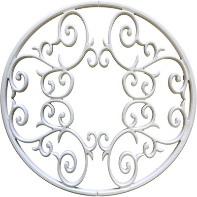 Eva Ceiling Medallion Size: 60 H x 60 W x 0.75 D, Finish: Plaster White