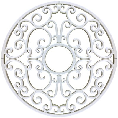 Nedal Ceiling Medallions Size: 32 H x 32 W x 0.75 D, Finish: Plaster White