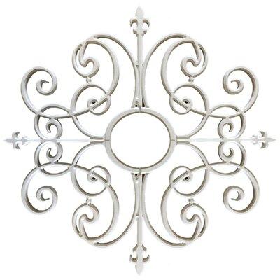 Paige Ceiling Medallion Size: 32 H x 32 W x 0.75 D, Finish: Plaster White