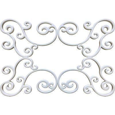 "Gabriele Ceiling Medallion Size: 36"" H x 48"" W x 0.75"" D, Finish: Plaster White"