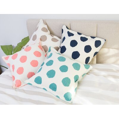 Dot 100% Cotton Throw Pillow