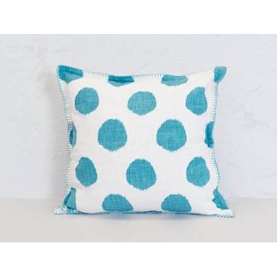 Dot 100% Cotton Throw Pillow Color: Lagoon