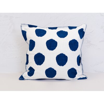 Dot 100% Cotton Throw Pillow Color: Indigo