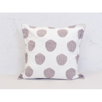 Dot 100% Cotton Throw Pillow Color: Dune