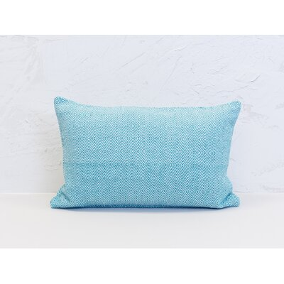 Deford 100% Cotton Lumbar Pillow Color: Lagoon