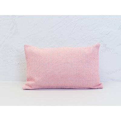 Deford 100% Cotton Lumbar Pillow Color: Azalea