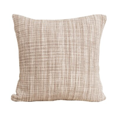 Thatcher 100% Cotton Throw Pillow Color: Dune