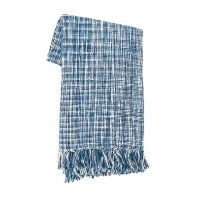 Thatcher Cotton Throw Color: Indigo