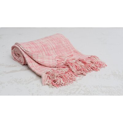 Deforge Cotton Throw Color: Azalea