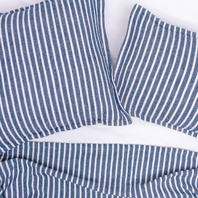 Bengal Stripe 100% Cotton Blanket Size: King, Color: Indigo