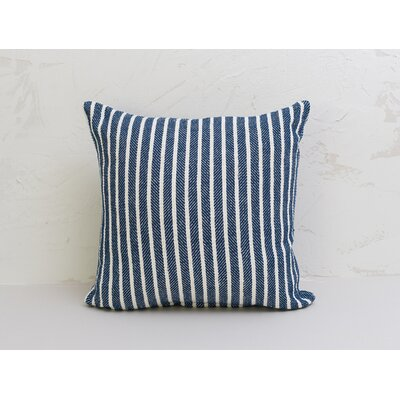 Bengal Stripe 100% Cotton Pillow Color: Indigo