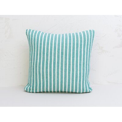Bengal Stripe 100% Cotton Pillow Color: Lagoon