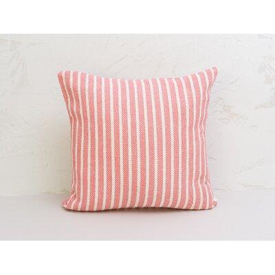 Bengal Stripe 100% Cotton Pillow Color: Azalea
