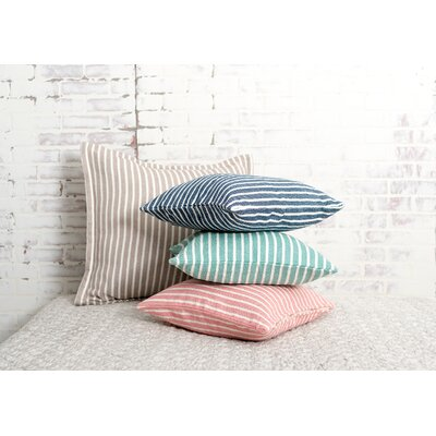 Bengal Stripe 100% Cotton Pillow Color: Dune