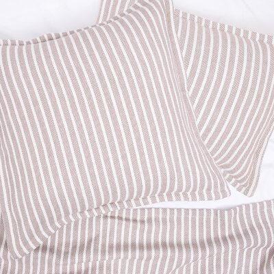 Bengal Stripe 100% Cotton Throw Color: Dune
