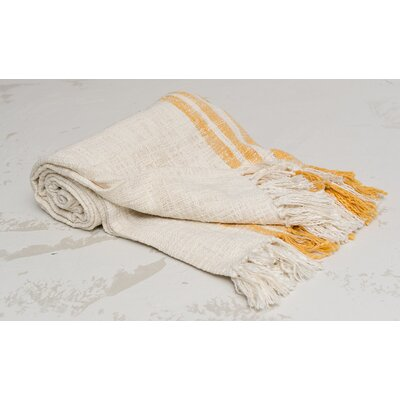 Morgan 100% Cotton Throw Color: Sunrise