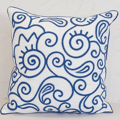 Swirls Cotton Throw Pillow