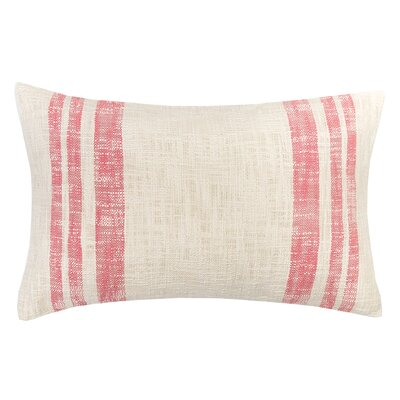 Morgan 100% Cotton Lumbar Pillow Color: Azalea