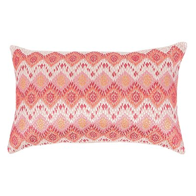 Darla 100% Cotton Lumbar Pillow Color: Azalea