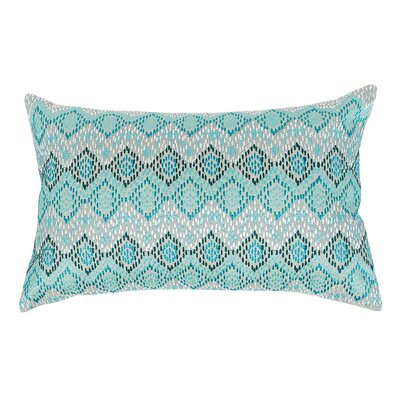Darla 100% Cotton Lumbar Pillow Color: Lagoon