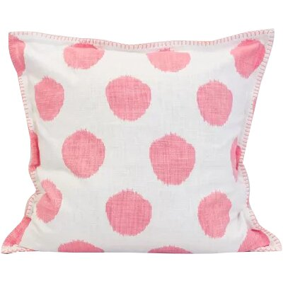 Dot 100% Cotton Throw Pillow Color: Azalea